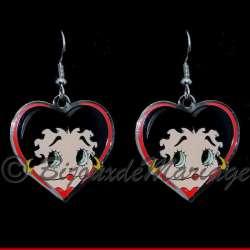 Betty Boop, boucles d'oreilles Coeur