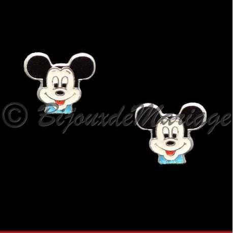 Boucles d'oreilles enfant, Mickey, ton argent