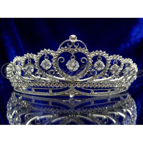 Diademe mariage MIRAGE, cristal, structure rhodiée
