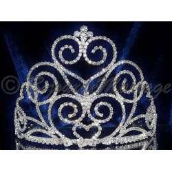 Diademe Miss BLIZZARD, cristal, structure ton argent